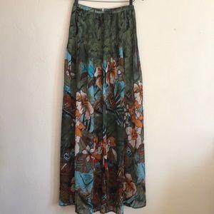 Nevada Semi Sheer High Waist Maxi Skirt